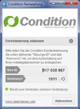 Teamviewer Condition Kundenbetreuung